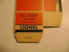Lionel 2426W Diecast Tender Licensed Reproduction Box w/insert (2-city)
