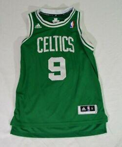Rajon Rondo Boston Celtics #9 adidas Sewn Jersey Youth M +2 Green Embroidered