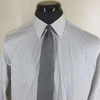 "DUNHILL Dress Shirt Made In England 2 Fold 100%  Cotton    16.5"" x 35/36"""