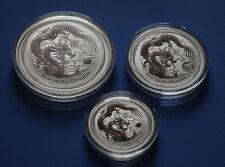 Lunar II Silber (3,5 Oz) Drache (Dragon) 2012 Silver 2 Oz + 1 Oz + 1/2 Oz