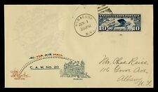 DR WHO 1928 SYRACUSE NY FIRST FLIGHT AIR MAIL CAM 20 C196127