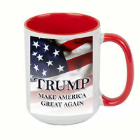 DONALD TRUMP Make America Great Again COFFEE MUG CUP 15 oz RED