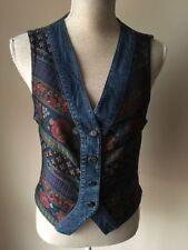 Button Cotton Blend Floral Waistcoats for Women