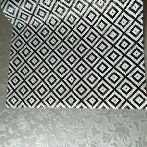 Printed black& White Anti Slip Drawer Liner Cut to Fit mat Place mat Non Slip