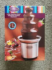 Nostalgia Electrics CFF986 3-tier Stainless Steel Chocolate Foundue.