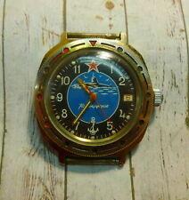 Soviet Russian Wrist Watch Navy Submarine Commander Series Nice Serviced USSR