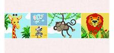 Bordüre Dschungeltiere Afrika Löwe Zebra Kinderzimmer Tapeten Borte Babyzimmer