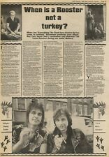 30/8/80PN23 Article With Picture: Joe Strummer Helps Little Roosters THE CLASH