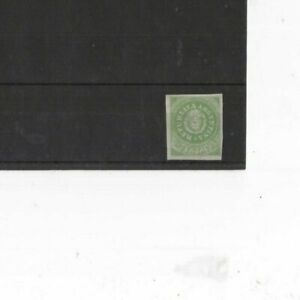 ARGENTINA , 1862, SG8 TYPE 3 10c GREEN, MH  CV £180+  GENUINE/REPRINT/FORGERY ??