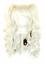 20'' Lolita Wig + 2 Pig Tails Set Snow White Mix Blend Cosplay Gothic Sweet