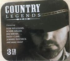 COUNTRY LEGENDS 3 CD Set Tin Case New Sealed - 30 Songs
