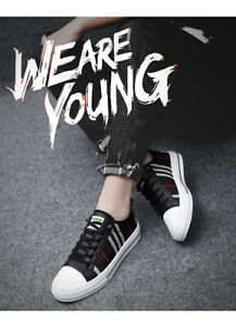 HOT Men's High Quality Casual Shoes Skate Sneakers Leather Luxury Athletic Shoes