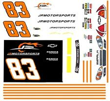 #83 Danica Patrick JRMotorsports Chevy 2010 1/24th - 1/25th Scale Decals