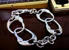 Solid Sterling Silver Keith Richards Handcuff Bracelet Handmade Bespoke Item