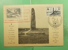 DR WHO 1947 FRANCE ST NAZAIRE SLOGAN CANCEL MAXIMUM CARD  g19462