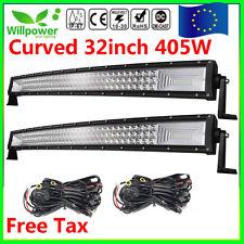 """Curved 32"""" 405W LED barra de luz trabajo Spot Flood Combo FOCO Light Bar camión"""