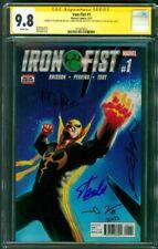 Iron Fist 1 CGC 4XSS 9.8 Perkins Thomas Dekal Stan Lee Luke Cage Defenders TV