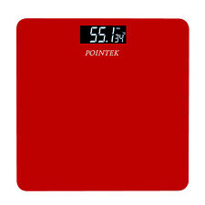 POINTEK WEIGHING MACHINE DIGITAL PERSONAL HEALTH CHECK SCALE (RED)