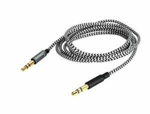 Replace nylon Audio Cable For Nuforce HP-800 Creative Outlier Black headphones