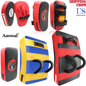 Boxing Kick Shield MMA  Focus Pads Arm Punching Training Sparring Thai pad mitts