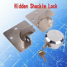Van Lock Door Trailer Master Hidden Shackle Puck Utility Round Secure Hasp Combo
