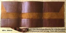 RYUGA Bonsai Werkzeug Roll Tasche Roll Bag Kunstleder 26x60cm TOP-Modell #G2