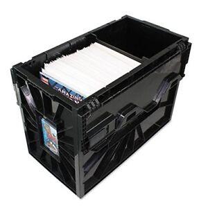 BCW SHORT COMIC BOOK BIN - NEW Black Plastic Storage Box w One Partition 1-Box