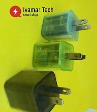 wall charger with light emitting color double USB