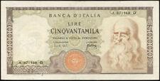 Italia/ITALY 50.000 LIRE 1967 PICK 099a (3+) Leonardo da Vinci