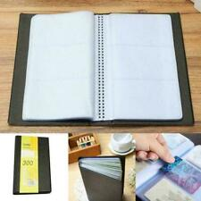 300 Name ID Credit Card Leather Business Cards Holder V5L7 Organizer Book C A0Y3