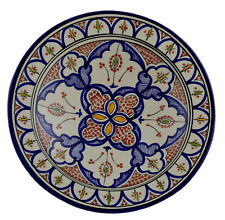 "Moroccan Ceramic Plate Handmade Pasta Bowl Serving Wall Hanging 14"" X-large"