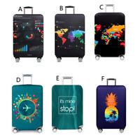 Elastic Waterproof Dustproof Travel Suitcase Protect Cover for 18-32Inch Luggage