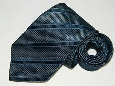 Men's Ermenegildo Zegna Blue 100%Silk Neck tie Made in Italy XL