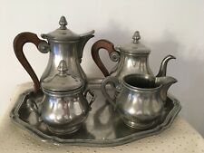 Ancien plateau Service à thé ou à café en étain