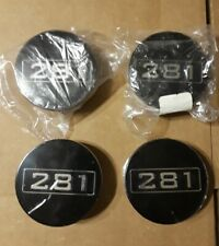"""1999-2004 Saleen Style Ford Mustang 281 Black Center Caps 2.5""""  FREE SHIPPING"""