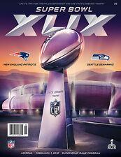 Super Bowl XLIX 49 Official Game Program - NOT HOLOGRAPHIC- Seahawks vs Patriots