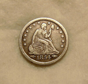 1854 Liberty Seated Quarter with Arrows - Sharp Looking Coin