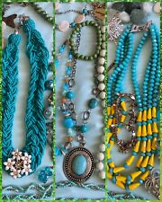 faux jade and turquoise jewelry and glass beads