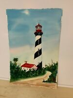 St. Augustine Lighthouse Original Watercolor Painting Arches -- Patricia McClure