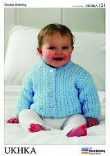 Giacca, MANTELLO E CAPPELLO DOPPIA knitting pattern. (PREM - 12mths) - UKHKA \ 121