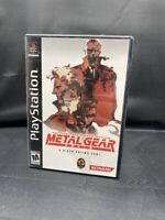 PLAYSTATION PS1 TACTICAL ESPIONAGE ACTION METAL GEAR SOLID 2 DISC COMPLETE GAME