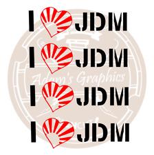 4x I Heart JDM Sticker - Shoshinsha civic crx s2000 honda nissan 200sx Silvia