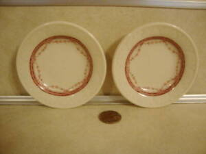 Vtg Butter Pats Shenango Restaurant China Early Red Drape Pattern Collectible!
