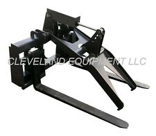 New Adjustable Fork Grapple Attachment Skid Steer Loader Terex Asv Jcb Hydra Mac