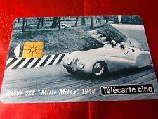 """RARE TELECARTE 5 UNITES """" GN 9 a """" NEUVE - BMW 328 1940 - 2 ème logo moreno"""