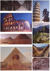 GRAFIX Deluxe Family Jigsaw Set 8 Jigsaws Eight Wonders Of The Ancient World
