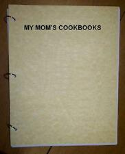 Ice Cream - w/no eggs- -for ice cream makers -- My Mom's Cookbook, ring bound