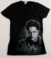 Petite Womens TWILIGHT Edward Cullen Robert Pattison Black SS T Shirt Size L