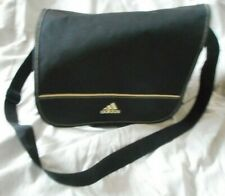 Adidas Originals Retro Shoulder Messenger Flight Travel Bag - Black 90s Vintage