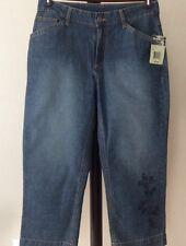 NWT Women's Guide Series Denim Jean Crop Capri Pants Size 6